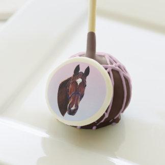 Chestnut Horse with White Star Cake Pops