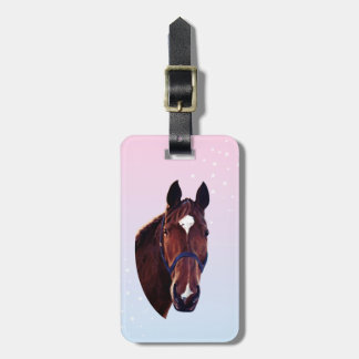 Chestnut Horse with White Star Travel Bag Tags