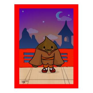 Chestnut in kimono Postcard