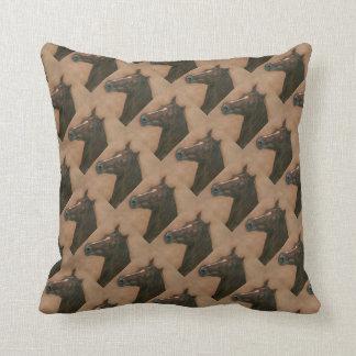 Chestnut mare horse portrait equine art pillow