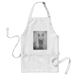 chestnut mare horse with blonde mane equine art adult apron