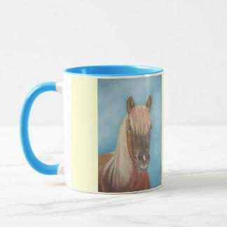 chestnut mare horse with blonde mane equine art mug