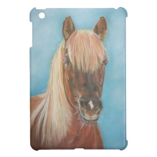chestnut mare with blonde mane equine art horse iPad mini cover