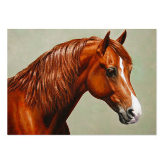 Chestnut Morgan Horse Pack Of Chubby Business Cards