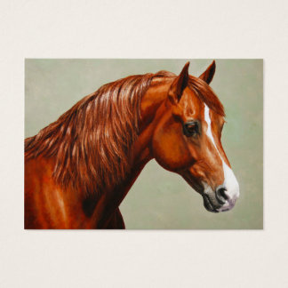 Chestnut Morgan Horse Business Card