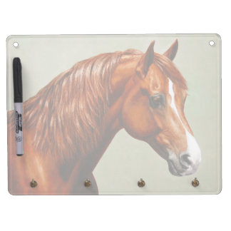 Chestnut Morgan Horse Dry Erase Board With Keychain Holder