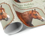 Chestnut Morgan Horse Gift Wrapping Paper