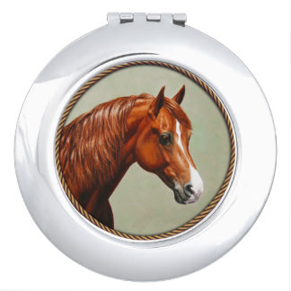 Chestnut Morgan Horse Compact Mirrors