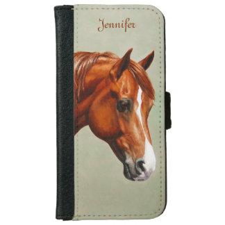 Chestnut Morgan Horse iPhone 6 Wallet Case
