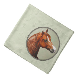 Chestnut Morgan Horse Sage Green Bandana