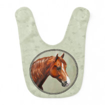 Chestnut Morgan Horse Sage Green Bib