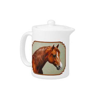 Chestnut Morgan Horse Teapot