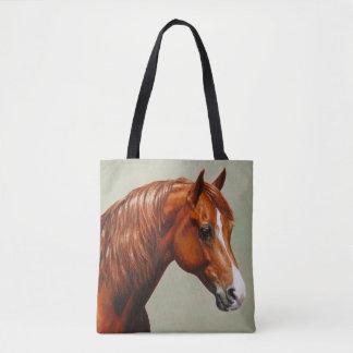 Chestnut Morgan Horse Tote Bag