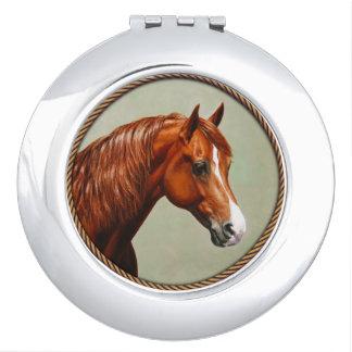Chestnut Morgan Horse Vanity Mirror