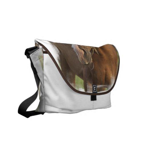 Chestnut Quarter Horse Messenger Bag