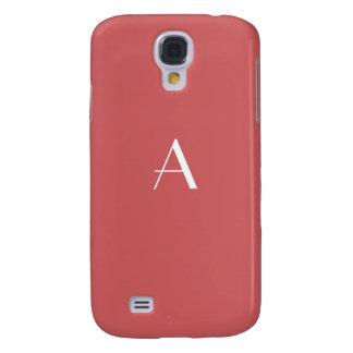 Chestnut Red Monogram Samsung Galaxy S4 Cover