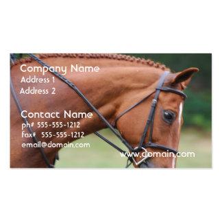 Chestnut Show Horse Business Cards
