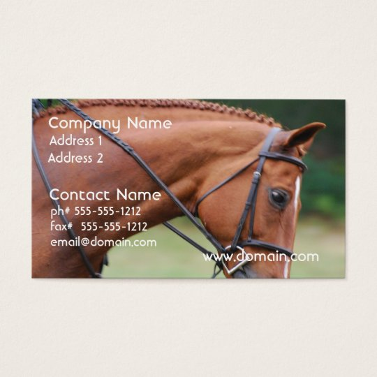 Chestnut Show Horse Business Cards
