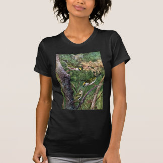 Chestnut-sided Warblers Feeding Young Tshirt