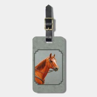 Chestnut Sorrel Quarter Horse Sage Green Luggage Tag