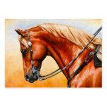 Chestnut Sorrel Western Quarter Horse Large Business Cards (Pack Of 100)