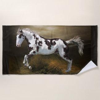 Chestnut Splash Frame Tovero Paint Horse Beach Towel