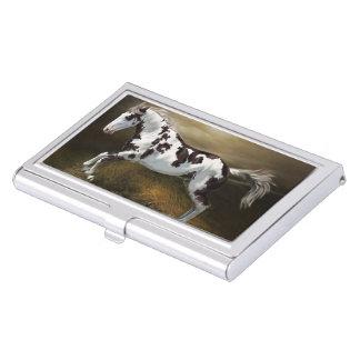 Chestnut Splash Frame Tovero Paint Horse Case For Business Cards