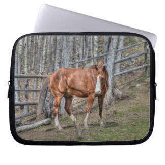 Chestnut Stallion Horse and Forest - Equine Computer Sleeve