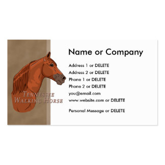 Chestnut Tennessee Walking Horse Personal Double-Sided Standard Business Cards (Pack Of 100)