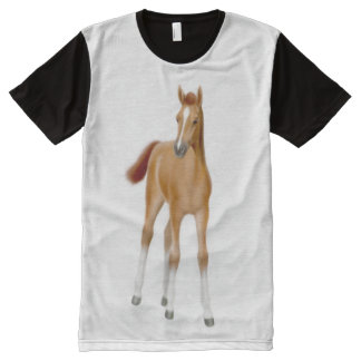 Chestnut Thoroughbred Horse Foal Panel Shirt