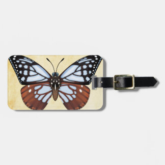 Chestnut Tiger Butterfly Luggage Tag