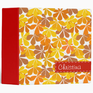Chestnut tree autumn leaves 3 ring binder
