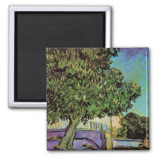 Chestnut Tree in Blossom by Vincent van Gogh Magnets