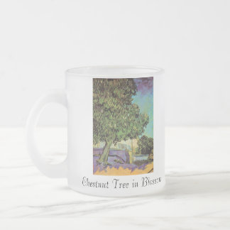 Chestnut Tree in Blossom 10 Oz Frosted Glass Coffee Mug