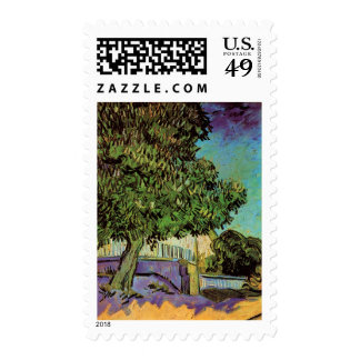 Chestnut Tree in Blossom Stamp