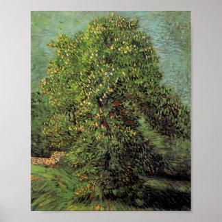 Chestnut Tree in Blossom, Van Gogh Fine Art Poster