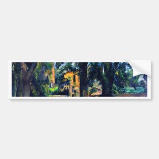 Chestnut Trees And Outbuildings Of The Jas De Car Bumper Sticker