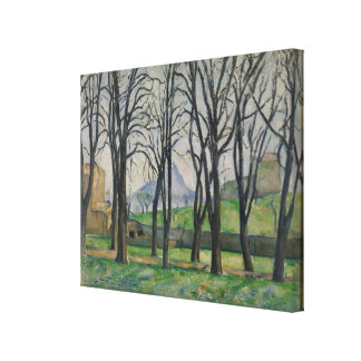 Chestnut Trees at Jas de Bouffan, c.1885-86 Stretched Canvas Prints