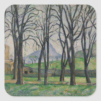 Chestnut Trees at Jas de Bouffan, c.1885-86 Square Stickers
