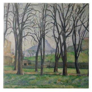 Chestnut Trees at Jas de Bouffan, c.1885-86 Tile