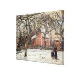 Chestnut Trees at Louveciennes, c.1871-2 Canvas Print