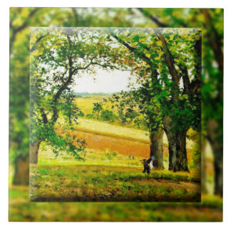 Chestnut Trees at Osny (1873) Large Square Tile