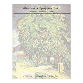 Chestnut Trees in Blossom, Vincent van Gogh. Letterhead