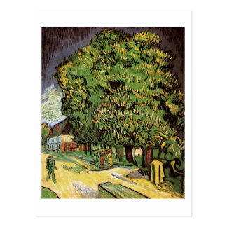 Chestnut Trees in Blossom, Vincent van Gogh Postcard
