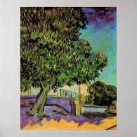 Chestnut Trees in Blossom, Vincent van Gogh. Poster