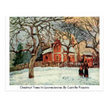 Chestnut Trees In Louveciennes By Camille Pissarro Postcard