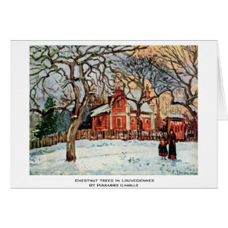 Chestnut Trees In Louveciennes By Pissarro Camille Greeting Card