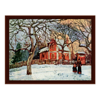 Chestnut Trees In Louveciennes By Pissarro Camille Postcard