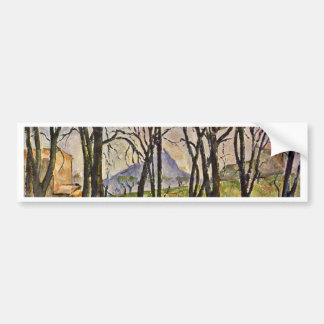Chestnut Trees In The Jas De Bouffan Car Bumper Sticker