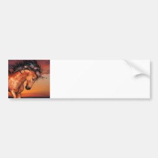 Chestnut Unicorn  Bumper Sticker Car Bumper Sticker